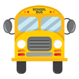 Parte delantera del autobús escolar