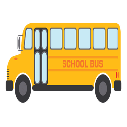 Autobús escolar amarillo de dibujos animados