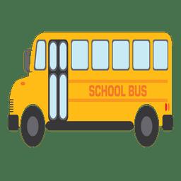 Ônibus escolar amarelo dos desenhos animados