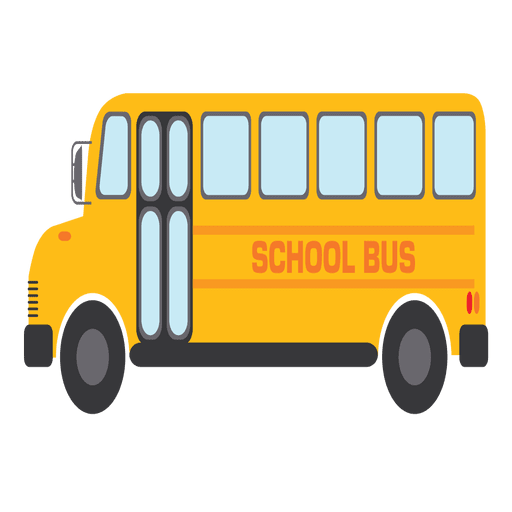 Cartoon Yellow School Bus Transparent PNG