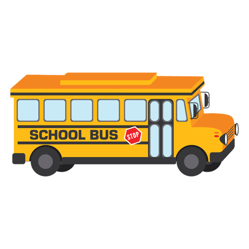 School bus illustration Transparent PNG