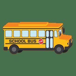 Diseño del autobús escolar amarillo