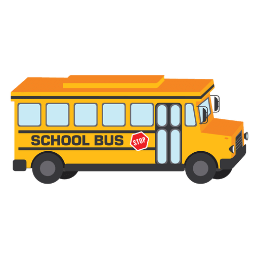 Yellow School Bus Design Transparent PNG
