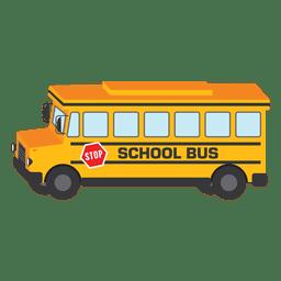 Ilustração da escola de onibus ônibus escolar