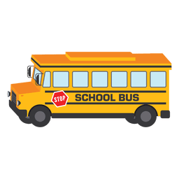 Ilustração de escola de ônibus escolar de ônibus
