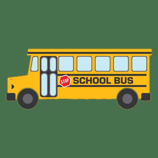 Yellow School Bus  Transparent PNG