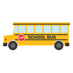 Flat bus school bus school