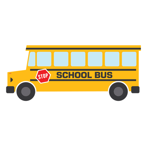Flat bus school bus school Transparent PNG