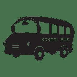 Flache Schulbus-Karikatur