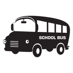 Flat School Bus Cartoon