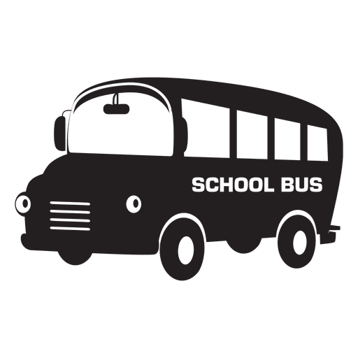 Flat School Bus Cartoon Transparent PNG