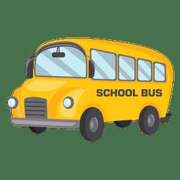 Ônibus escolar do lado