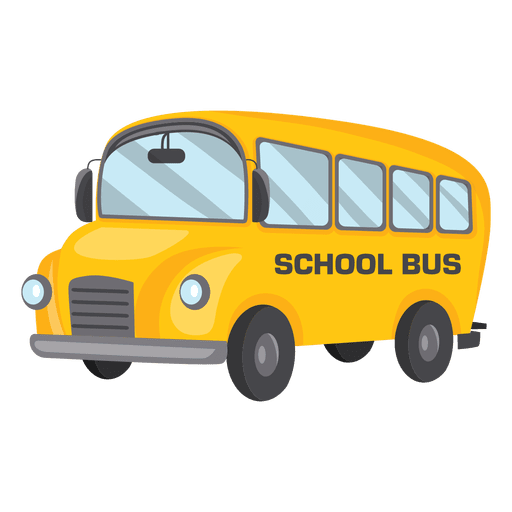 School bus from the side Transparent PNG
