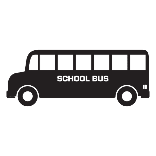Bus school silhouette in black Transparent PNG