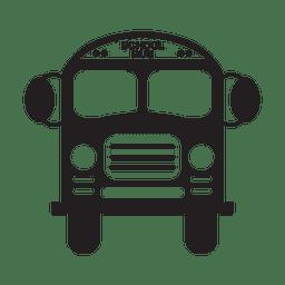 Silhueta de ônibus escolar
