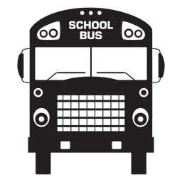 School bus front silhouette
