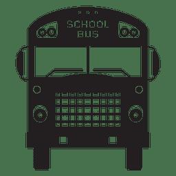 Silueta de frente de autobús escolar