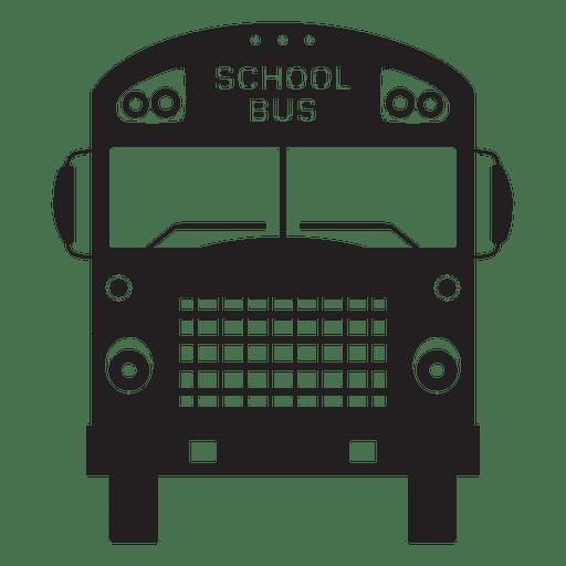 School bus front silhouette Transparent PNG