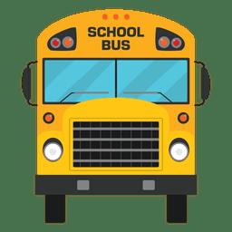 Silhueta de ônibus escolar ilustrada plana