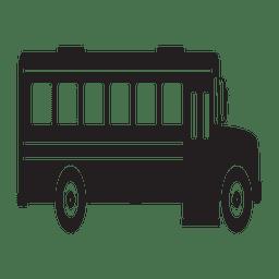 Vista lateral de silhueta de ônibus escolar