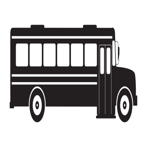 School bus silhouette side view Transparent PNG