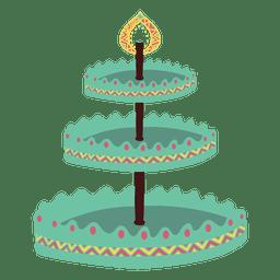 Carrinho de bolo carrinho de cupcake