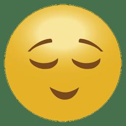 Emoticon de emoji tranquilo