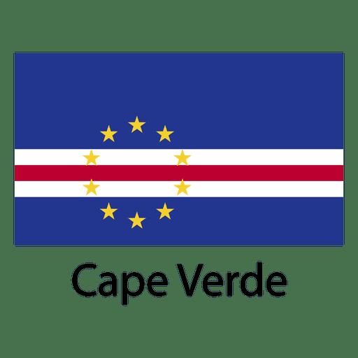 Bandeira nacional de cabo verde Transparent PNG