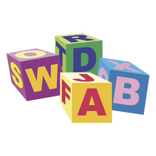 Cartoon abc blocks 02 Transparent PNG
