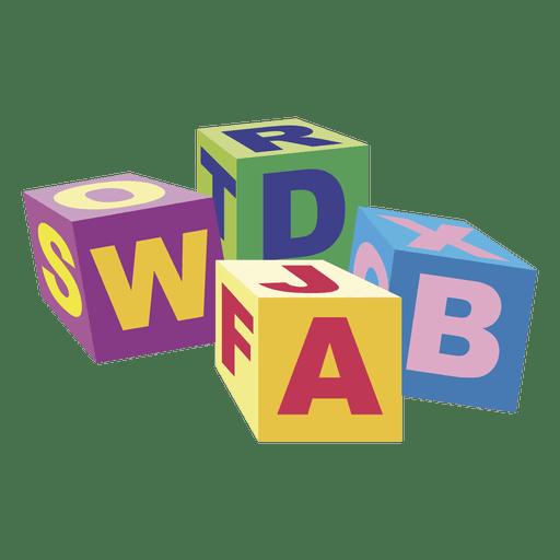 Dibujos animados de bloques de abc 02
