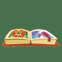 Libro de animales de dibujos animados