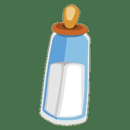 garrafa de bebê dos desenhos animados