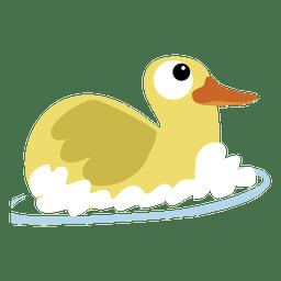 Pato de banho dos desenhos animados