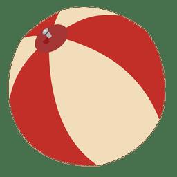Bola de praia plana de desenho animado