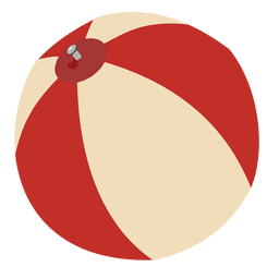 Flat cartoon beach ball