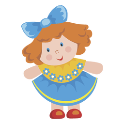 Cartoon girl doll