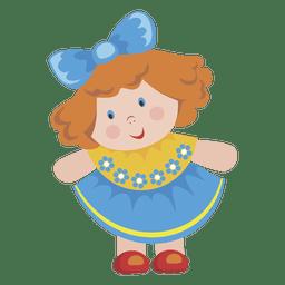 Niña de dibujos animados muñeca