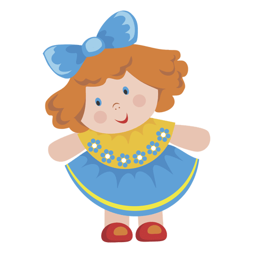 Cartoon girl doll Transparent PNG