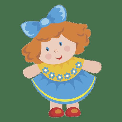 Niña de dibujos animados muñeca Transparent PNG