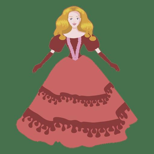 Muñeca de dama de dibujos animados