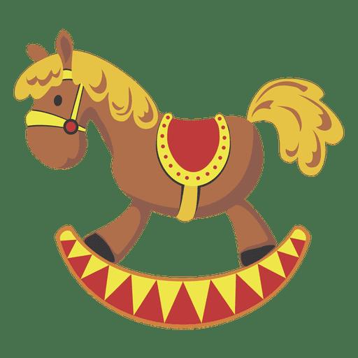 Cartoon rocking horse Transparent PNG
