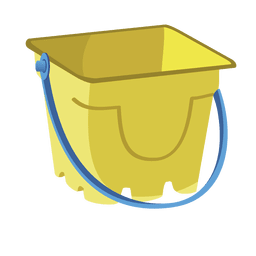 Cubo de arena de dibujos animados