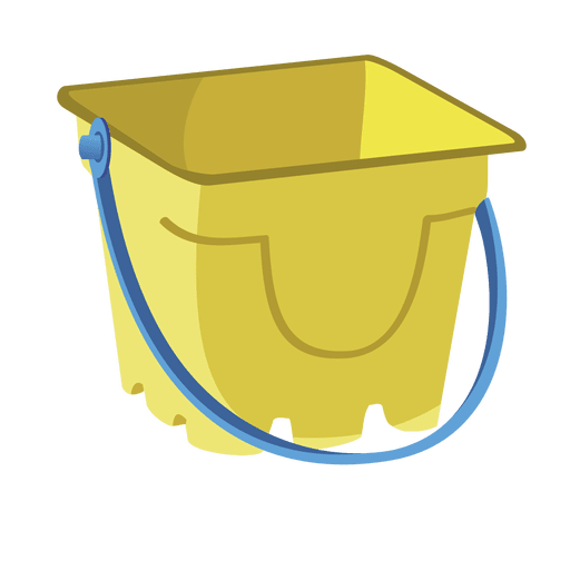 Cartoon Sand Bucket Transparent PNG