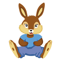 Coelho de pelúcia de animais dos desenhos animados