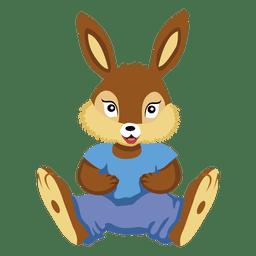 De dibujos animados de peluche animal conejito
