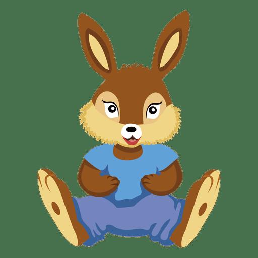 Cartoon stuffed animal bunny