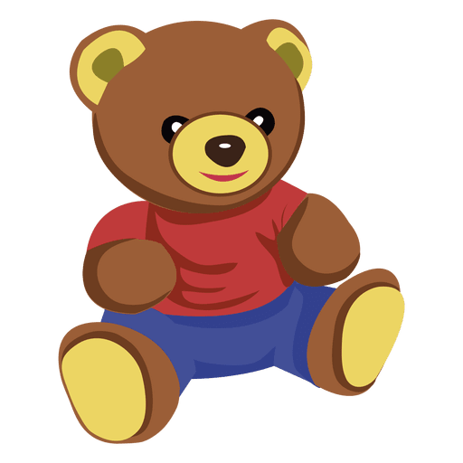 Cartoon teddy bear 02 Transparent PNG