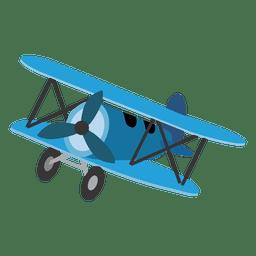 Avião de brinquedo dos desenhos animados