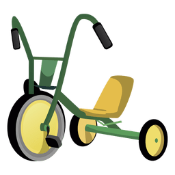 Cartoon tricycle