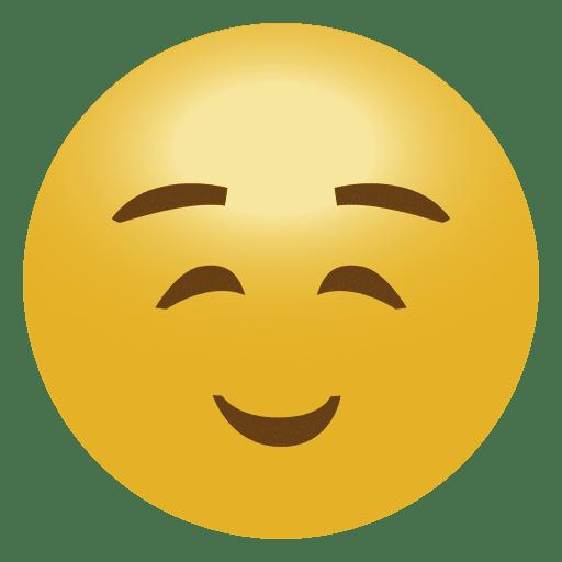 Cheerful emoji emoticon